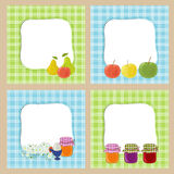 Frames in village style Stock Image