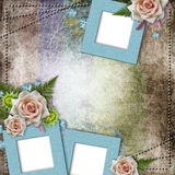 frames on vintage background Royalty Free Stock Image