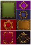 Frames Vintage, set Stock Photos