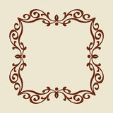 Frames .Vintage .Well built for easy editing.Brown. Royalty Free Stock Image