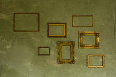 Frames on the wall Royalty Free Stock Images