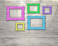 Frames on the wall Stock Images