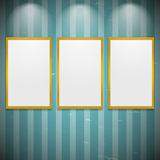 Frames on the wall Royalty Free Stock Photography