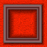 Frames on the wall. Vector illustration Royalty Free Stock Photos