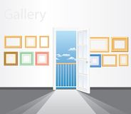 Frames on wall Stock Image