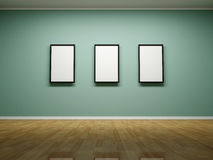 Frames on the wall of the room. Stock Image