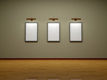 Frames on the wall of the room. Stock Images