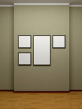 Frames on the wall of the room. Royalty Free Stock Photography