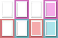 Frames are on the wall set. Royalty Free Stock Photo