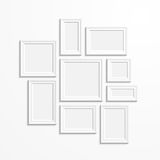 Frames on wall Stock Images
