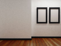 Frames and on the wall Royalty Free Stock Image