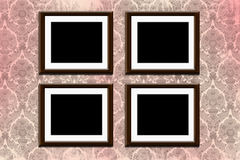 Frames on wallpaper Royalty Free Stock Images