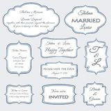 Frames for wedding invitation cards Royalty Free Stock Images