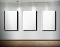 Frames on white wall Royalty Free Stock Photo