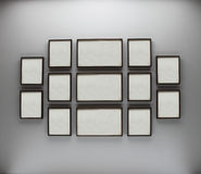 Frames on the white wall Royalty Free Stock Image