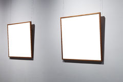 Frames on white wall Stock Photos
