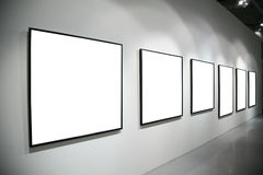 Frames on white wall royalty free stock image