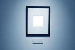 Frames on white wall in art museum. Frames on white wall in  museum Stock Images
