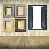 Frames and window blank Stock Photography