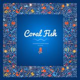 Frames With Coral Fish Color-11 Royalty Free Stock Photos