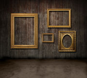 Frames wood room Royalty Free Stock Photography