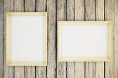 Frames on wood stock illustration