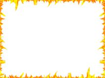 Framework. Fiery languages of fire on a white background royalty free stock photography