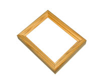 Framework. The isolated wooden framework for photos. On a white background Royalty Free Stock Photography