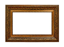 Framework in antique style. Gold Vintage picture frame Royalty Free Stock Photo
