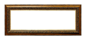 Framework in antique style. Vintage picture frame. Isolated on white background royalty free stock photo