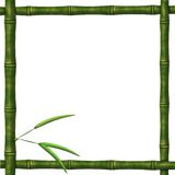Framework from bamboo branches Royalty Free Stock Photo