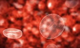 Framework of blood cells Royalty Free Stock Photos