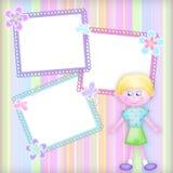 Framework with the boy. Children's multi-coloured framework with the boy and colours Stock Photo