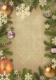 Framework from branches of a Christmas tree Stock Photos
