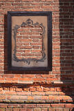 Framework on brick wall Royalty Free Stock Photos