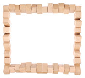 Framework from the combined boxes Royalty Free Stock Photo