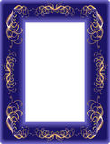 Framework from a dark blue velvet Royalty Free Stock Photo