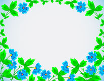 Framework, flower, cornflower. Framework with the image of bright, field, blue cornflowers with leaves Royalty Free Stock Images