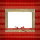 Framework For A Photo Or Invitations. A Red Bow Royalty Free Stock Images