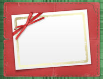 Framework For A Photo Or Invitations. A Red Bow Royalty Free Stock Photo