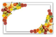 Framework from fruit. Design of a framework from fresh fruit for a card royalty free stock images