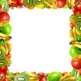 Framework from fruits and vegetables. On a white background. Isolation Royalty Free Stock Photo