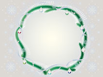 Framework a gentle fur-tree wreath Royalty Free Stock Photography