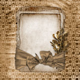 Framework for greeting or invitation. The grunge paper background Stock Photo