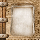 Framework for greeting or invitation. The grunge wooden background Stock Photo