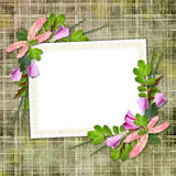 Framework for greeting or invitation. The grunge abstract background Stock Photos