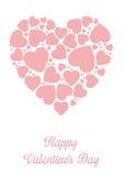 Framework for greeting or invitation for Valentine's Day Stock Photo
