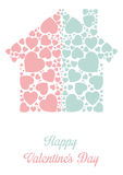 Framework for greeting or invitation for Valentine\'s Day Royalty Free Stock Image