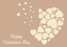 Framework for greeting or invitation for Valentine's Day Royalty Free Stock Photo