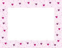 Framework with hearts Royalty Free Stock Photos
